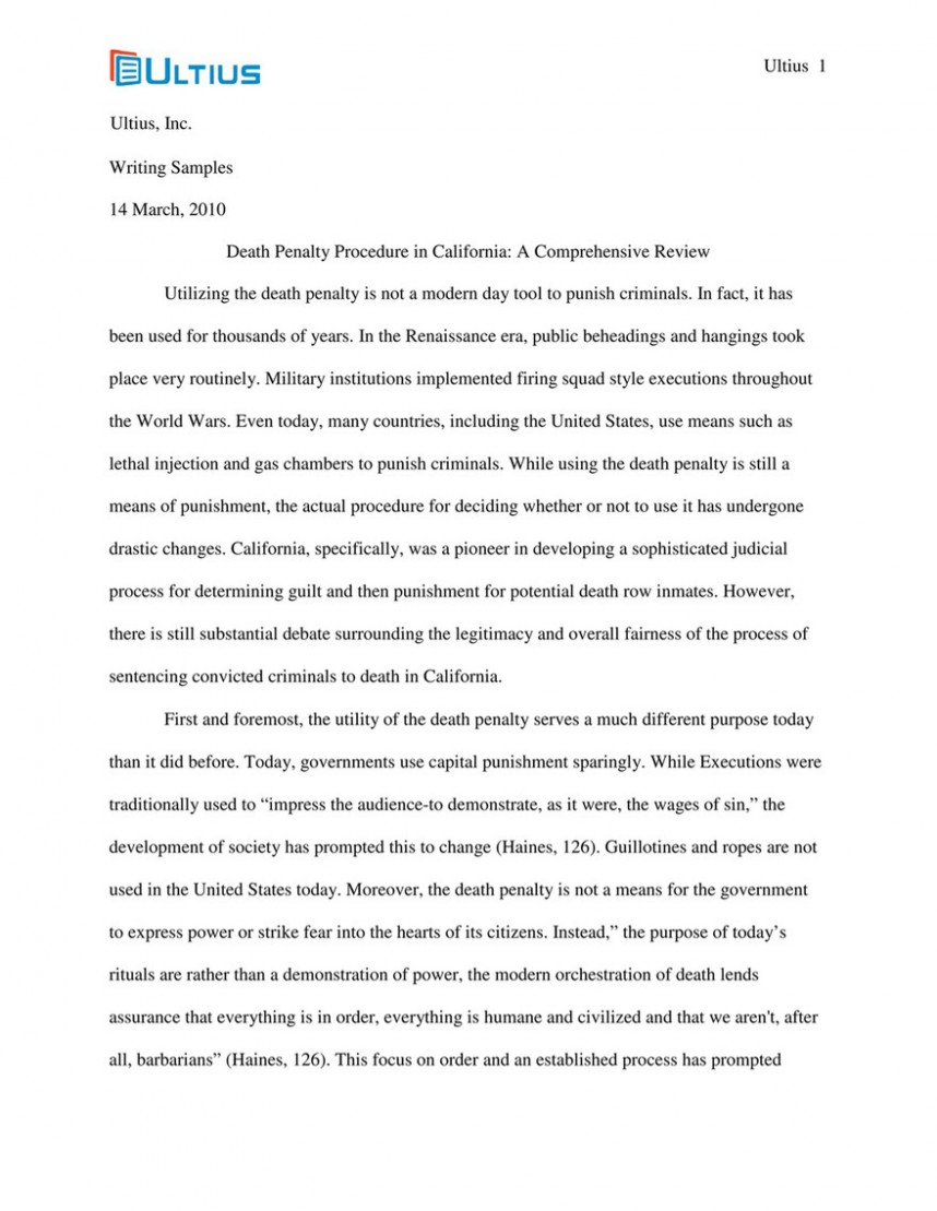 001 Research Paper On Death Penalty Best Report Papers The Thesis Statement