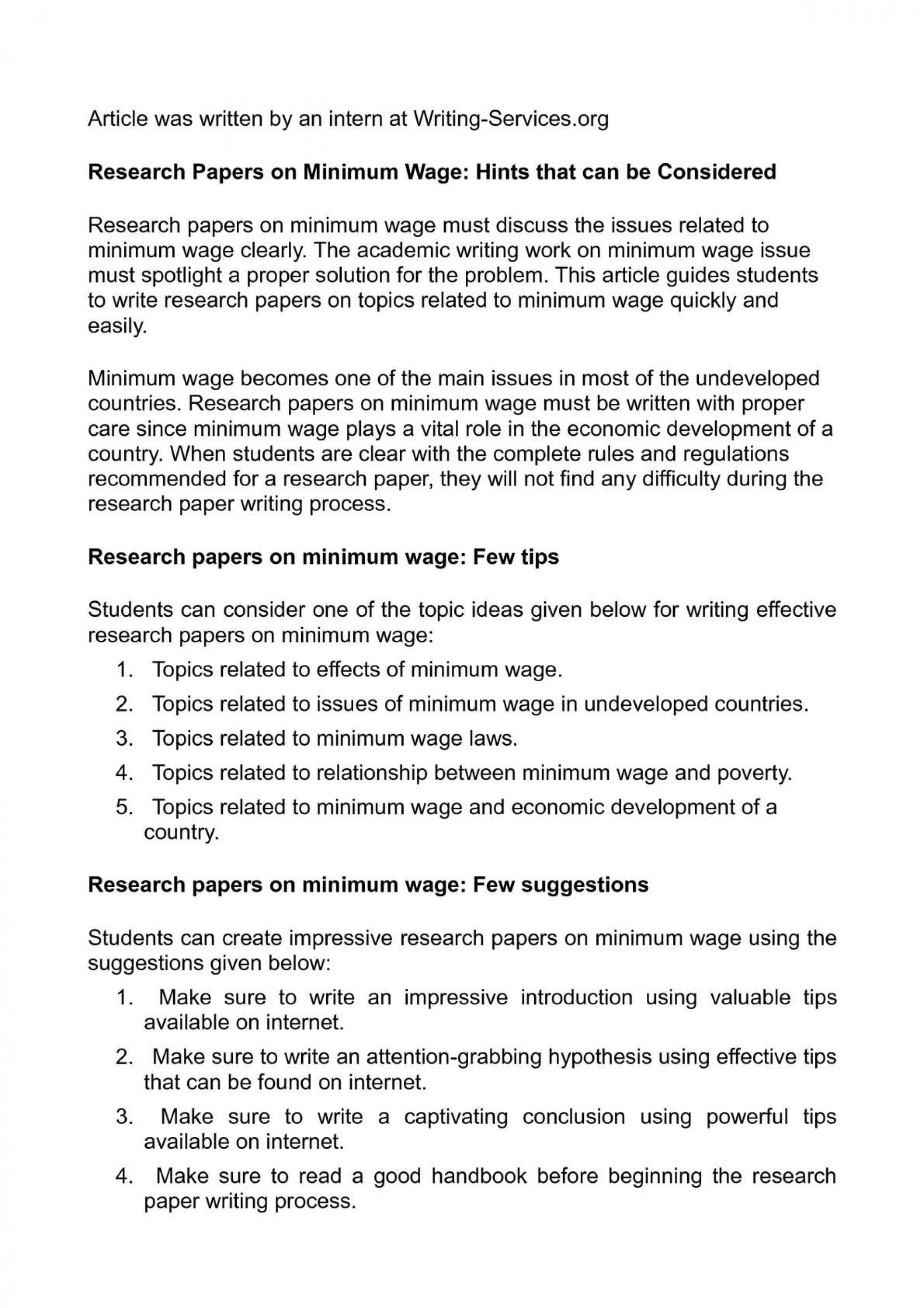 001 Research Paper P1 Minimum Wage Astounding Topics 1920