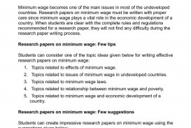 001 Research Paper P1 Minimum Wage Astounding Topics