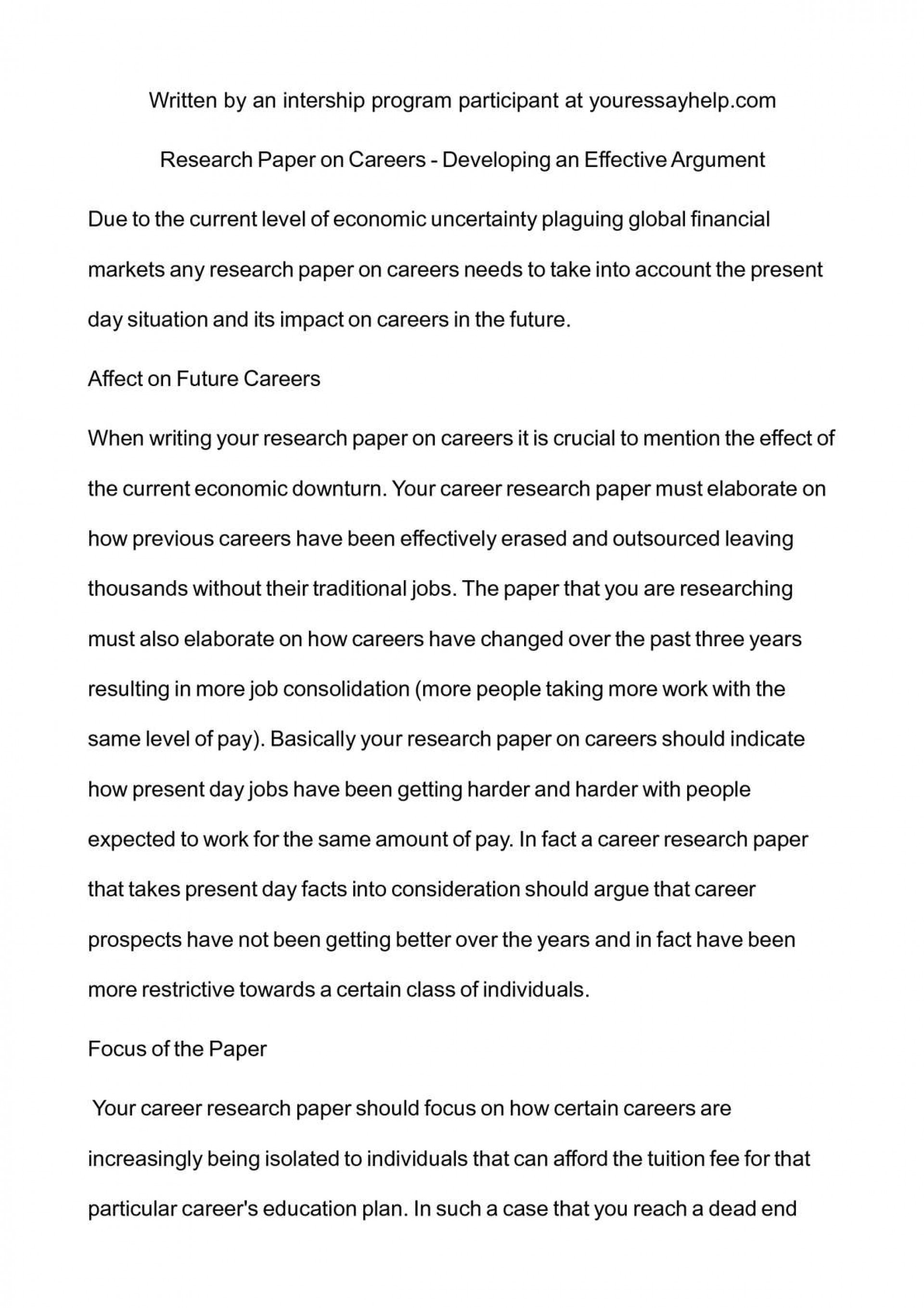001 Research Paper P1 On Breathtaking Careers Thesis Statement For A Topics 1920