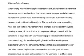 001 Research Paper P1 On Breathtaking Careers Thesis Statement For A Topics