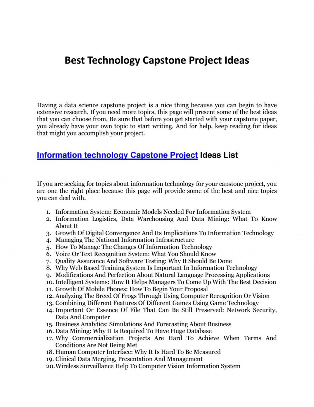 001 Research Paper Page 1 Best Topic For In Information Striking Technology Large
