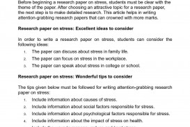 001 Research Paper Psychology Topics Stress Beautiful 320