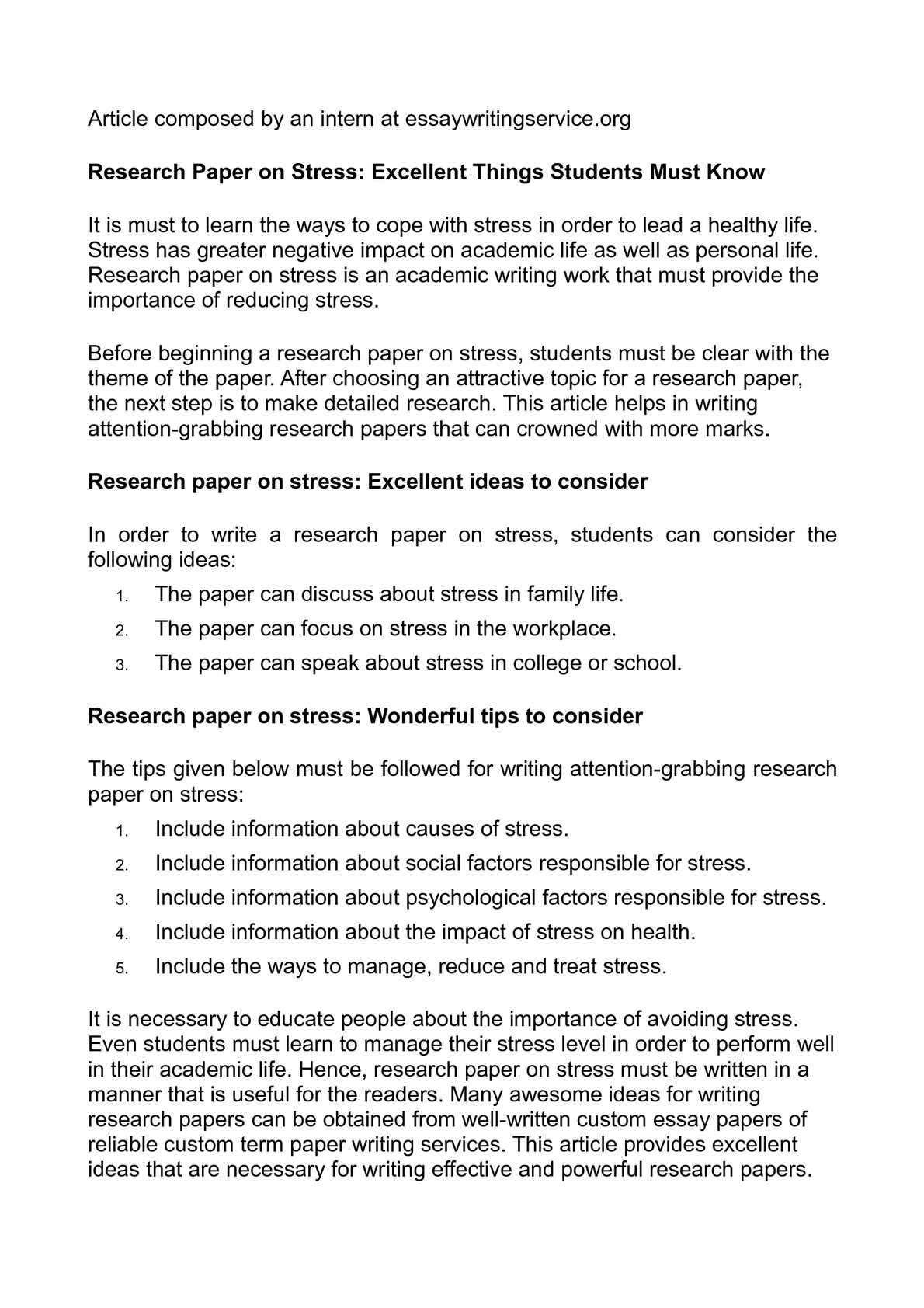 001 Research Paper Psychology Topics Stress Beautiful Full