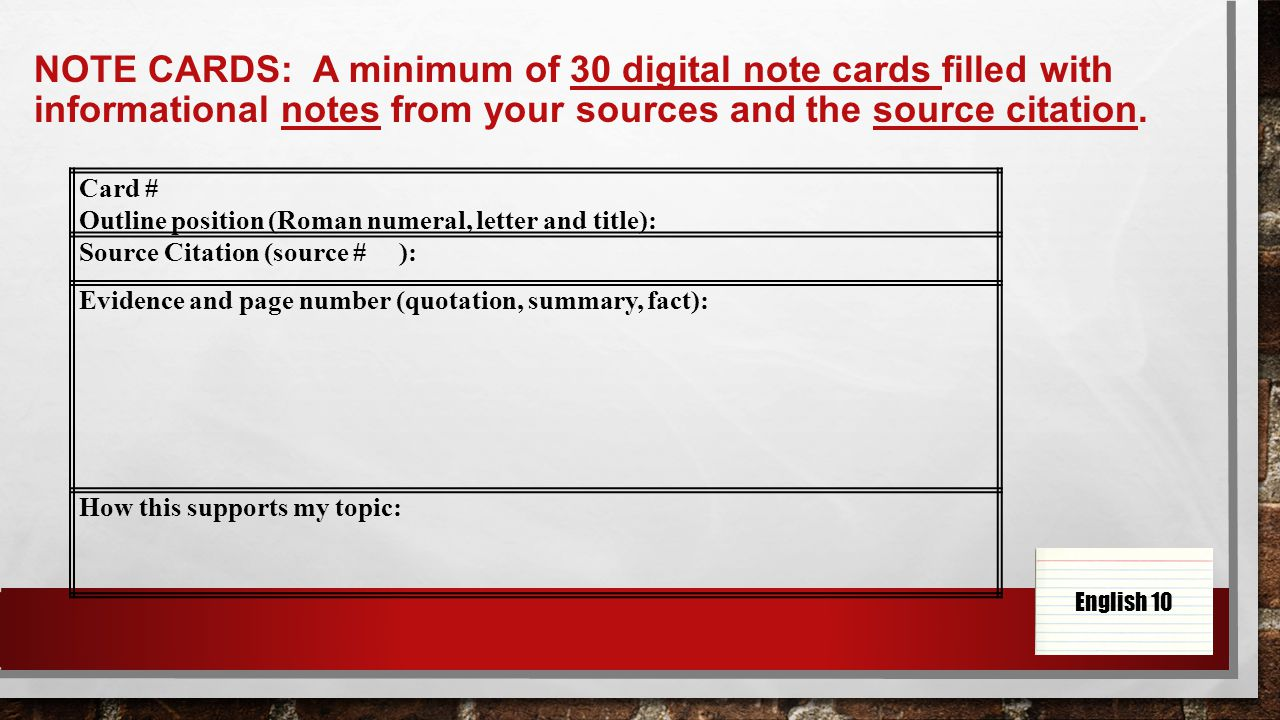 001 Research Paper Slide 4 Note Cards Rare For Taking Papers Card System Example Of Notecards Full