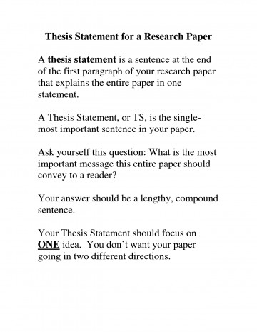 001 Research Paper Thesis Statement Examples Magnificent Argumentative Topic Sentence And 360