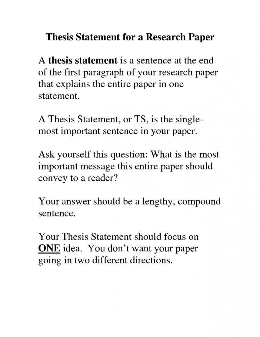 001 Research Paper Thesis Statement Examples Magnificent Argumentative Topic Sentence And 868