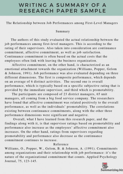 001 Research Paper Writing Summary Of How To Write Phenomenal A Good Conclusion And Recommendation Synopsis For 480