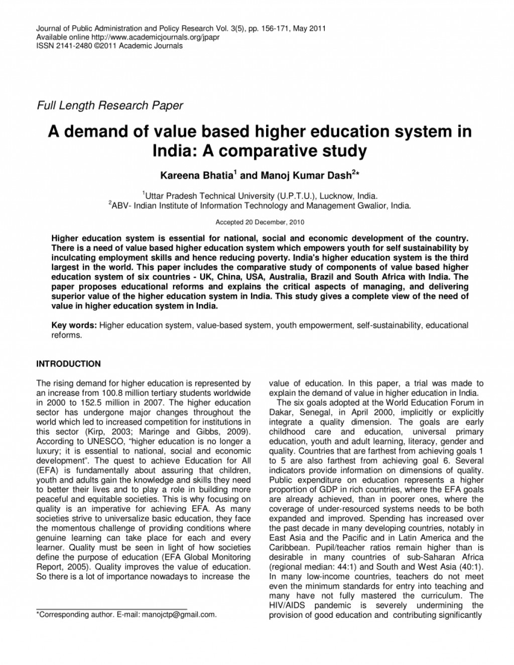 001 Research Papers On Education Paper Unique In Pakistan Science Pdf Higher Large