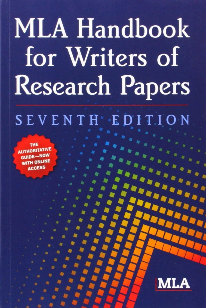 001 The Mla Handbook For Writers Of Research Papers Paper Fearsome 8th Edition 7th 2009 (8th Ed.) 868