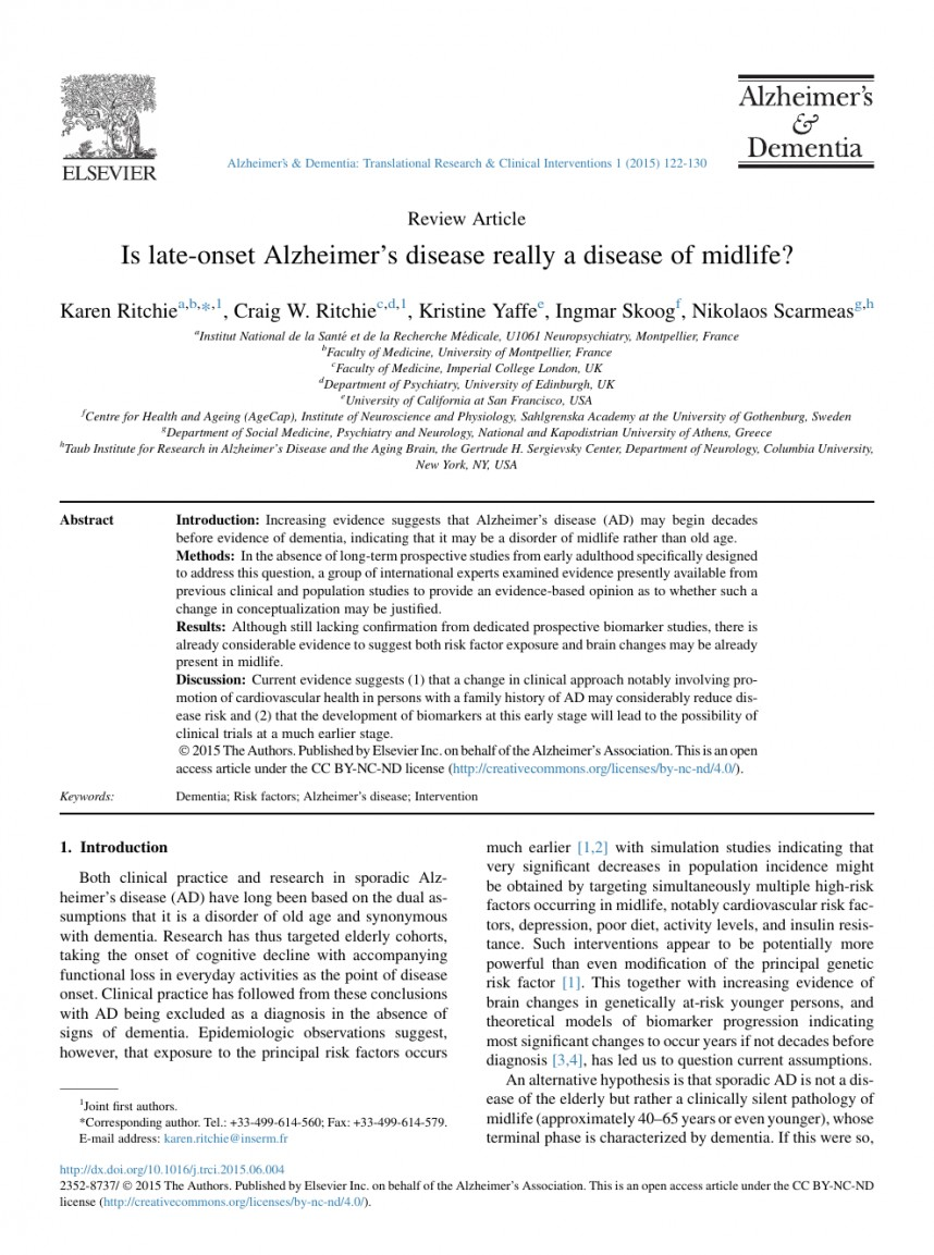 002 Abstract Alzheimers Research Paper Exceptional Alzheimer's