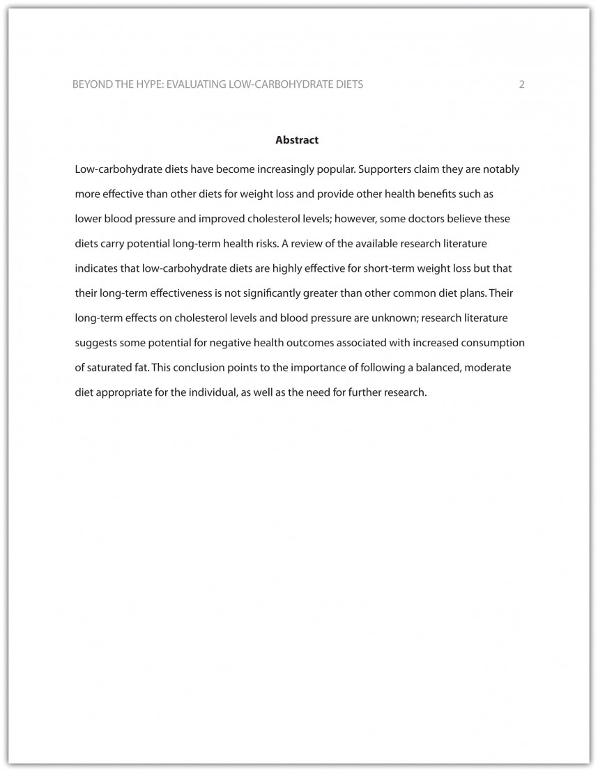 002 Abstract In Research Paper Apa Rare For An Writing A Style