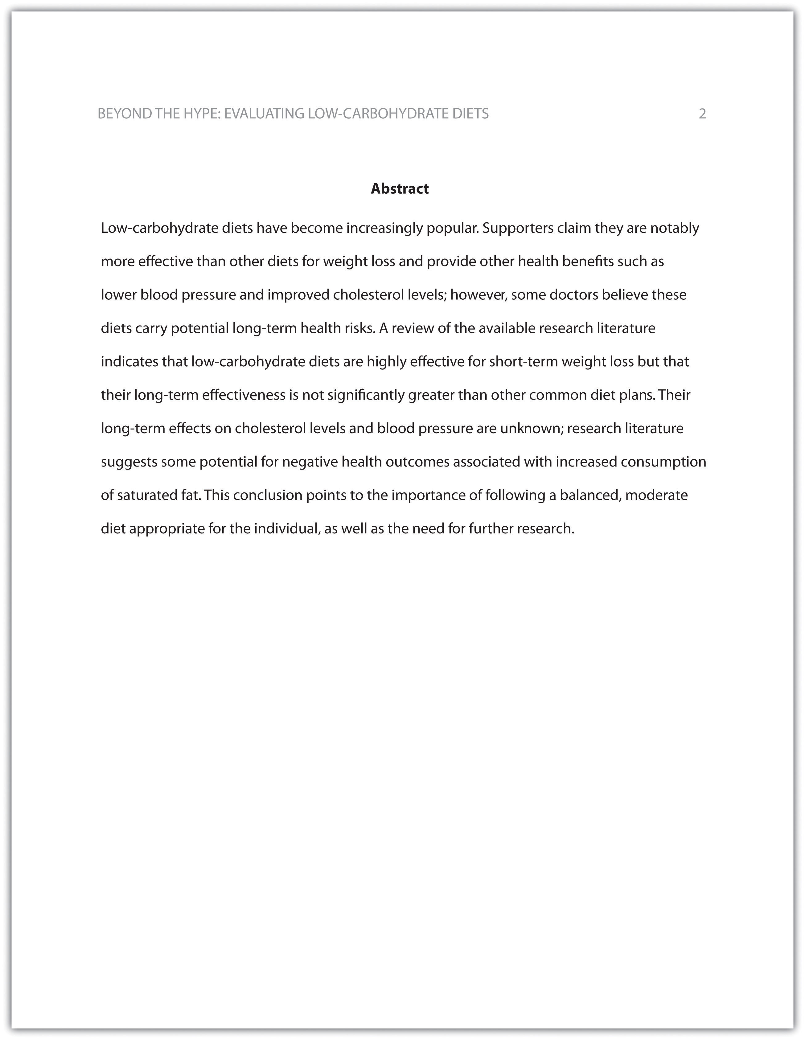 002 Abstract In Research Paper Apa Rare For Style Sample Without Full