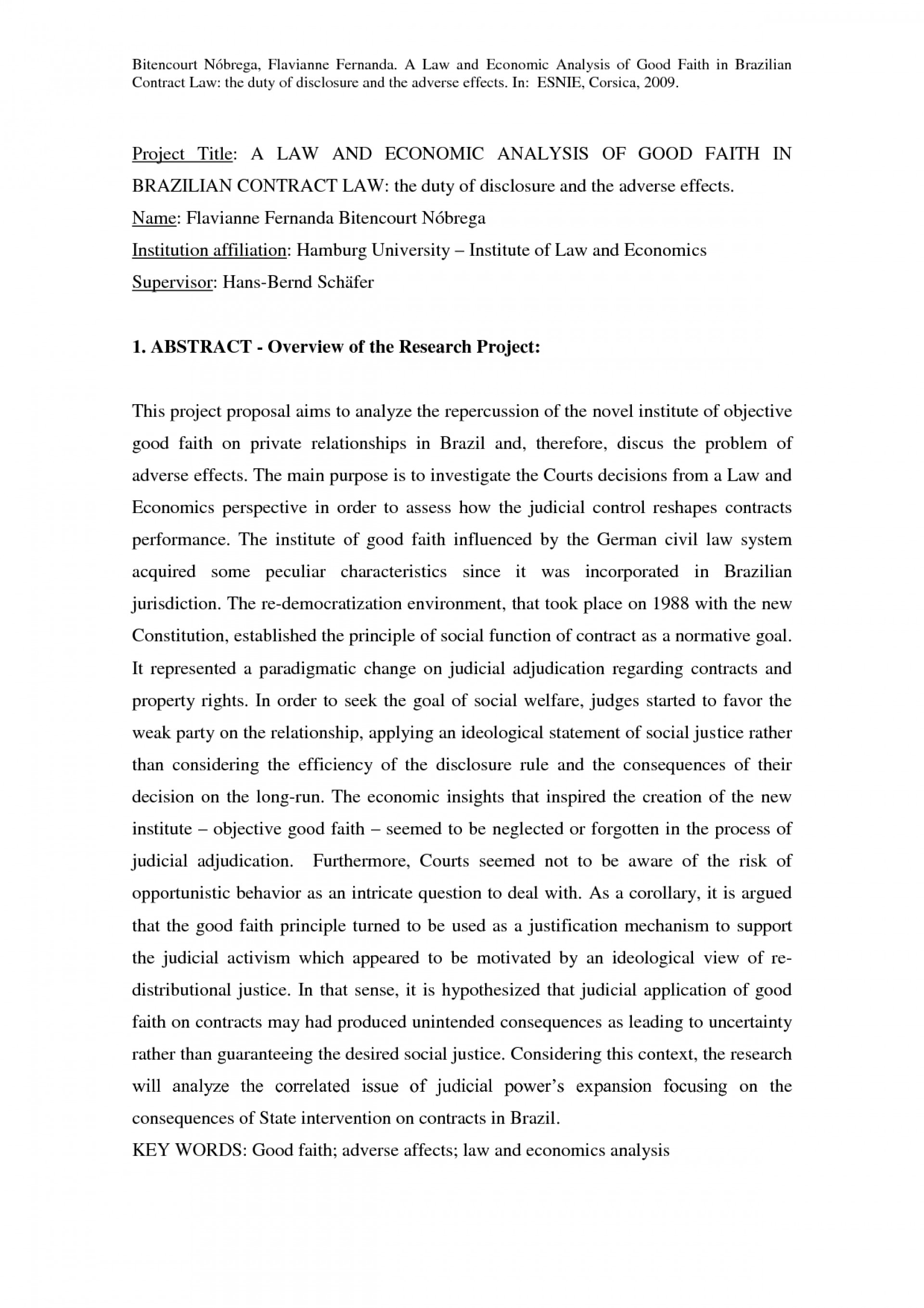 002 Abstract Of Legal Research Paper Magnificent A 1920