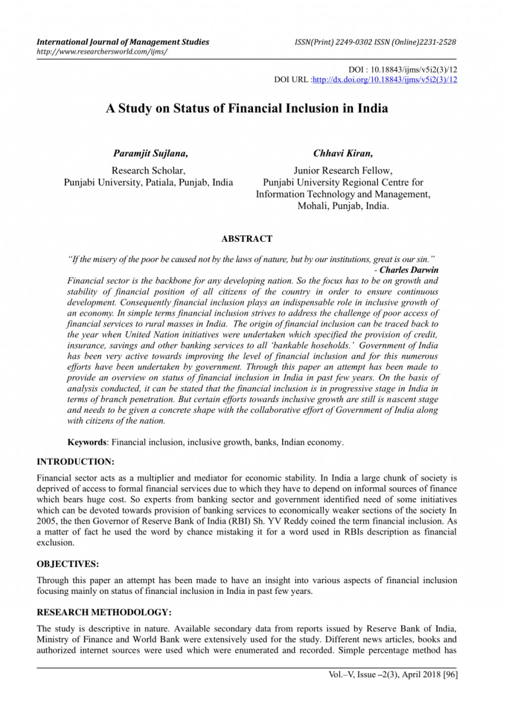 002 Abstract Of Research Paper In Finance Awful Large