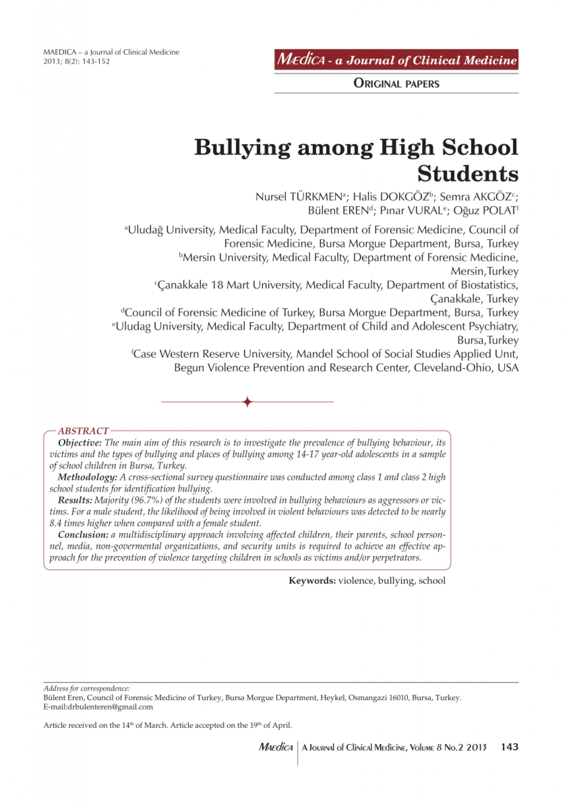 002 Abstract Research Paper About Bullying Formidable 1920
