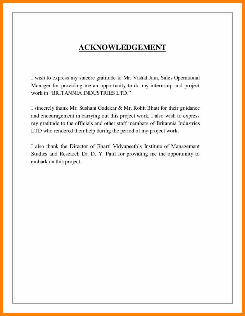 002 Acknowledgment Examples Uncategorized Acknowledgement For Internship Report Essential Sample Research Paper Staggering Doc In A Full