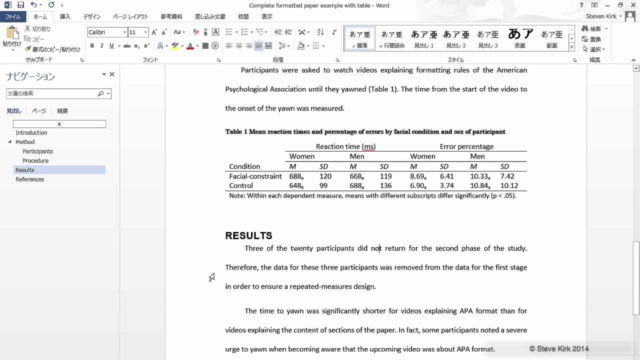 002 Apa Research Paper Example Youtube Unusual Full