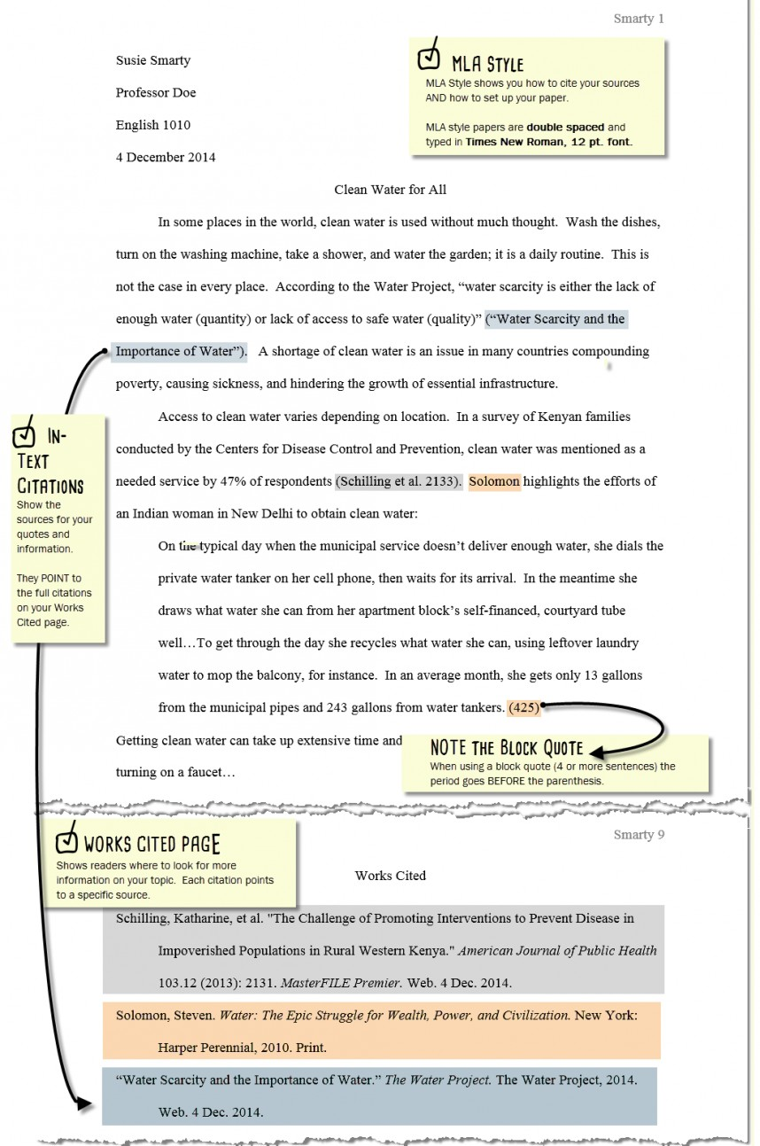 002 Citations In Research Paper Mla Awesome A Citation Example Cite Style