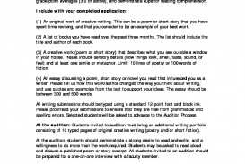 002 Creative Writing Audition Resource Pdf Research Paper Is Rare A Quizlet In Essay The Thesis Statement Should When You First Step To