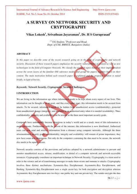 latest research paper on cryptography