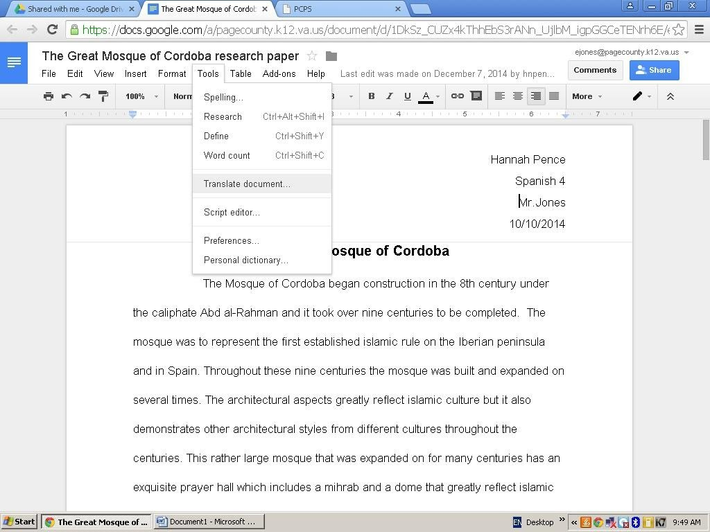 002 Define Research Paper In Spanish Picture4page4 Striking Large
