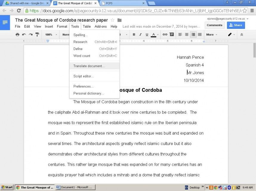 002 Define Research Paper In Spanish Picture4page4 Striking