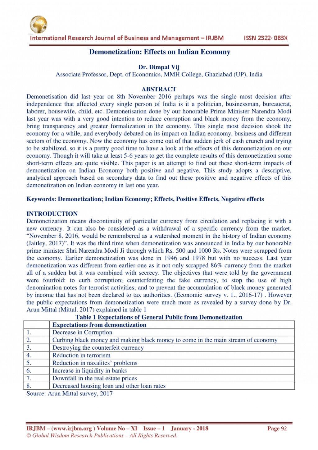 002 Demonetization And Its Impact On Indian Economy Research Paper Frightening Large