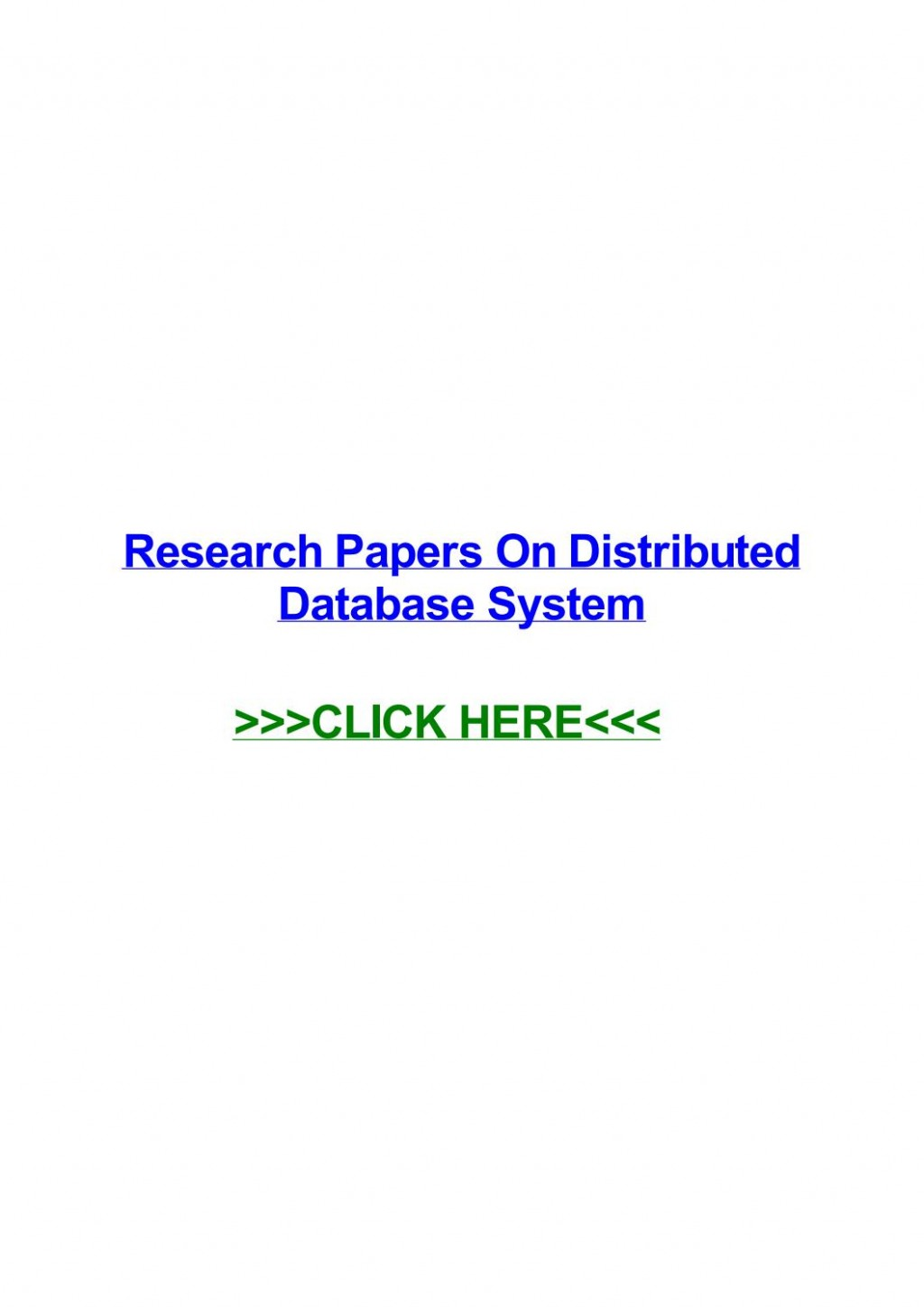002 Distributed Database Researchs Page 1 Unusual Research Papers Pdf Large