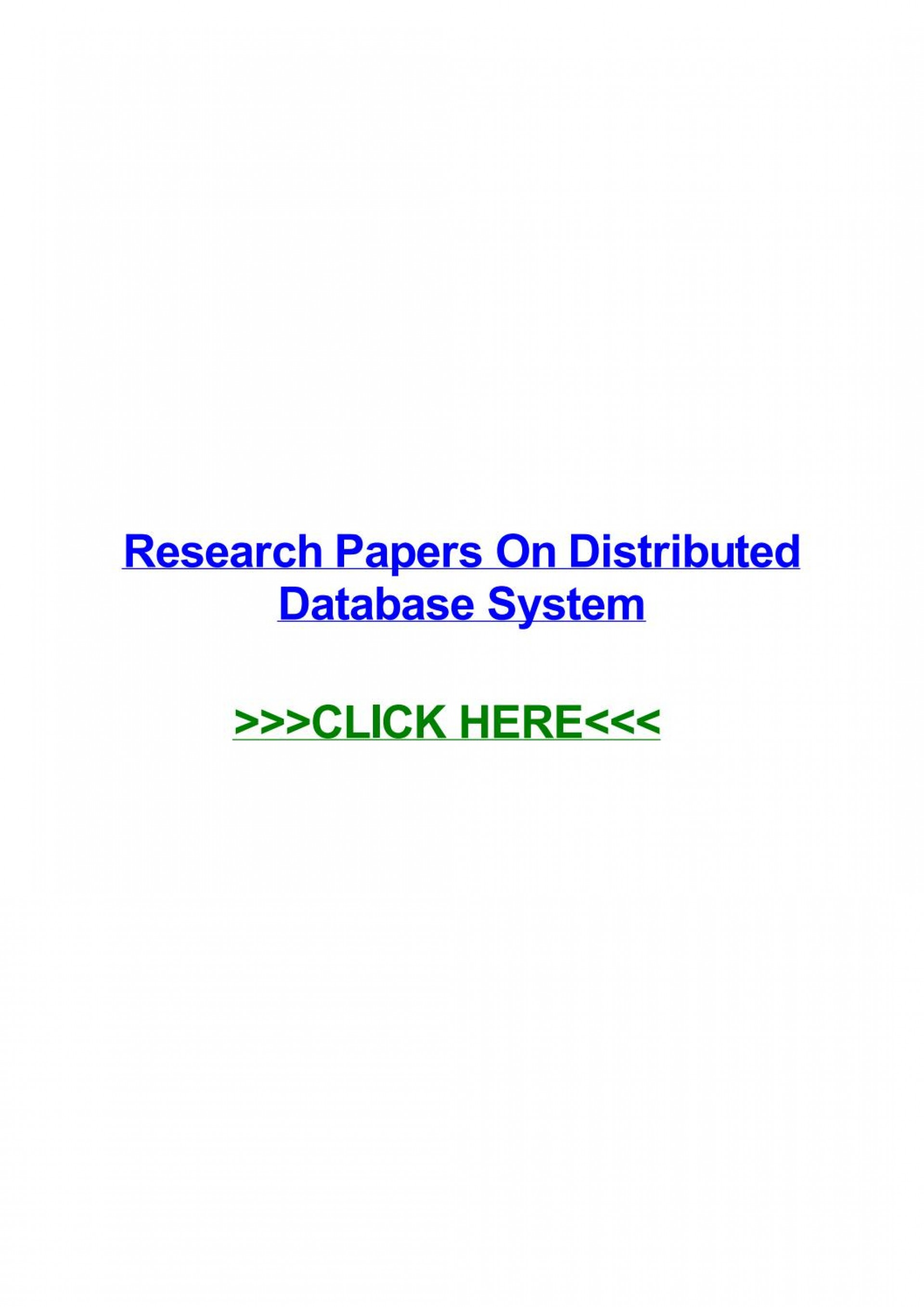 002 Distributed Database Researchs Page 1 Unusual Research Papers Pdf 1920
