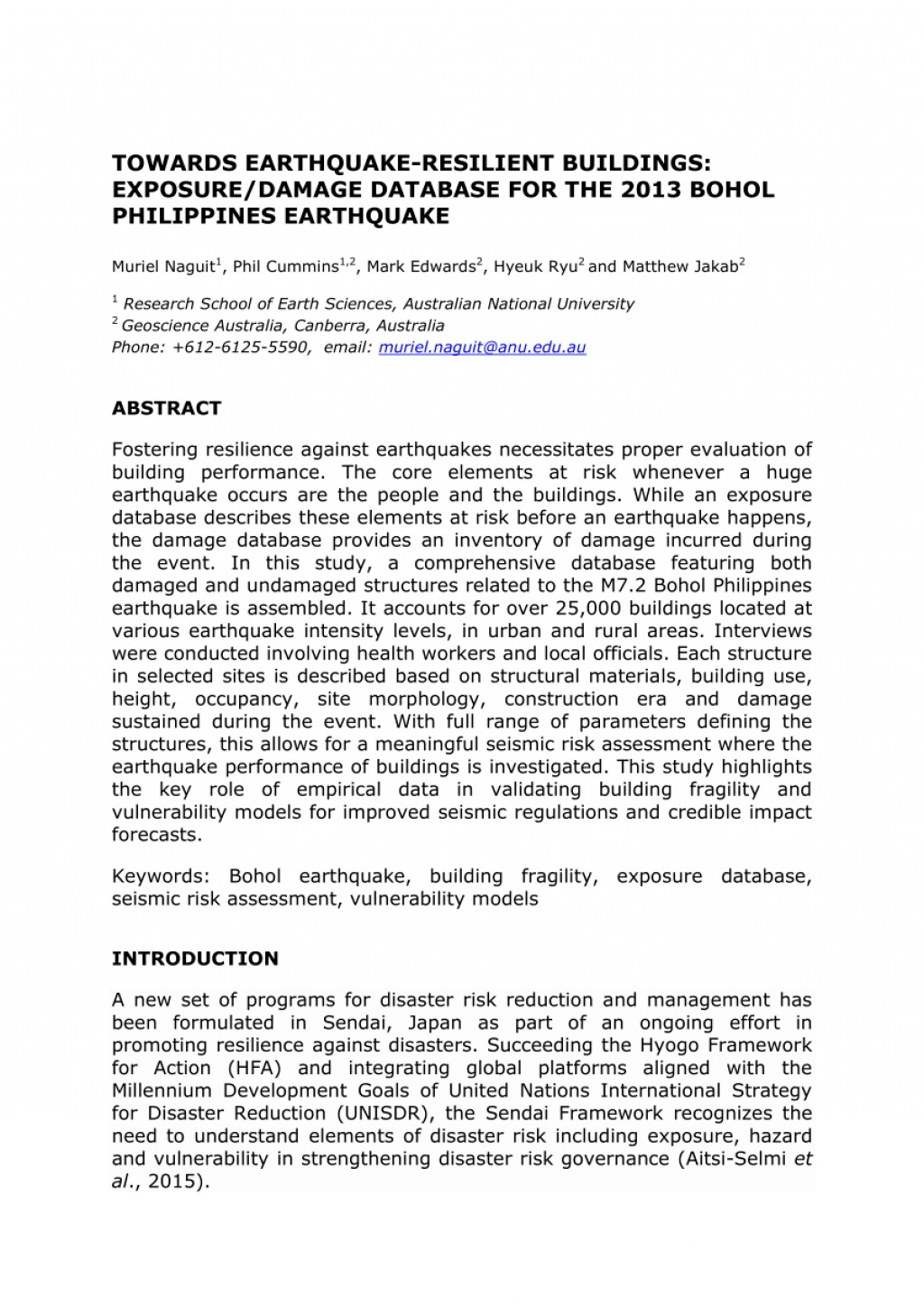 002 Earthquake Research Paper Pdf Philippines Wondrous Large