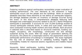 002 Earthquake Research Paper Pdf Philippines Wondrous