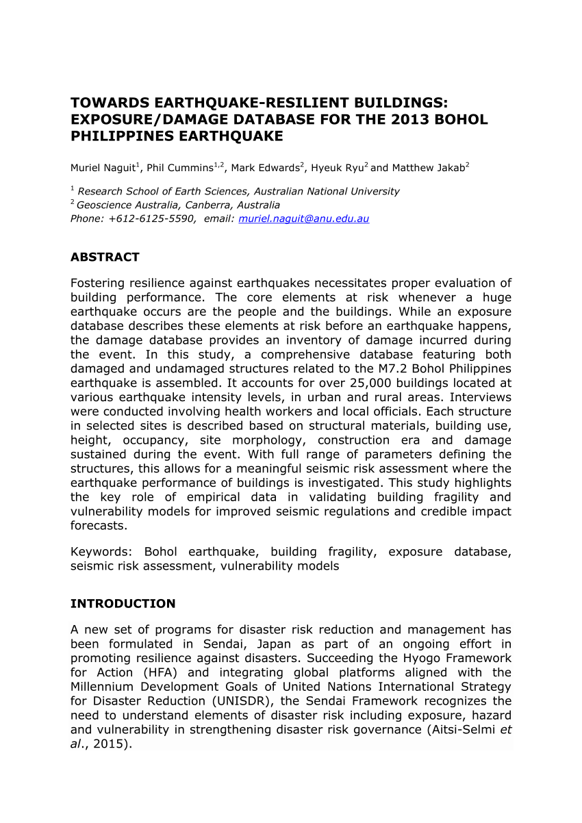 002 Earthquake Research Paper Pdf Philippines Wondrous Full