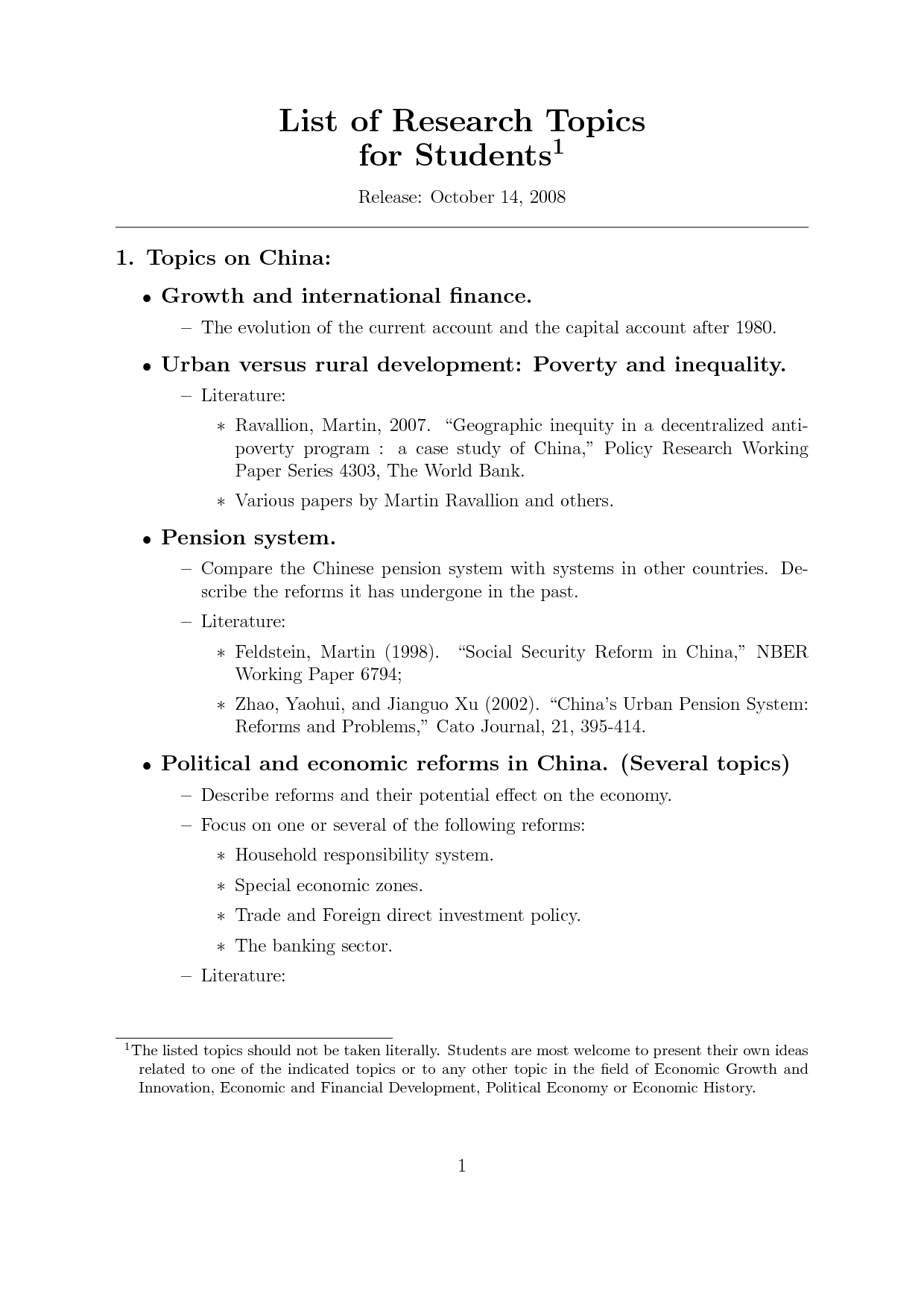 Interesting research paper topics in economics literature review on child abuse