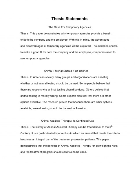 example essayhesis statement examples research paper of