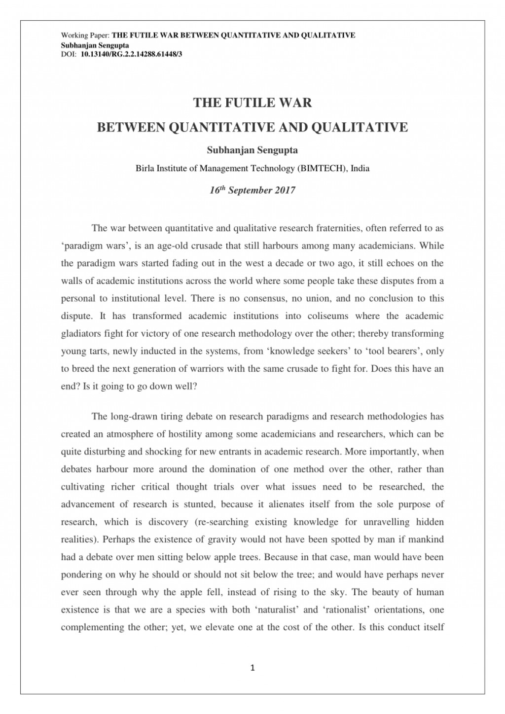 002 Example Of Hypothesis In Qualitative Research Paper Singular Large