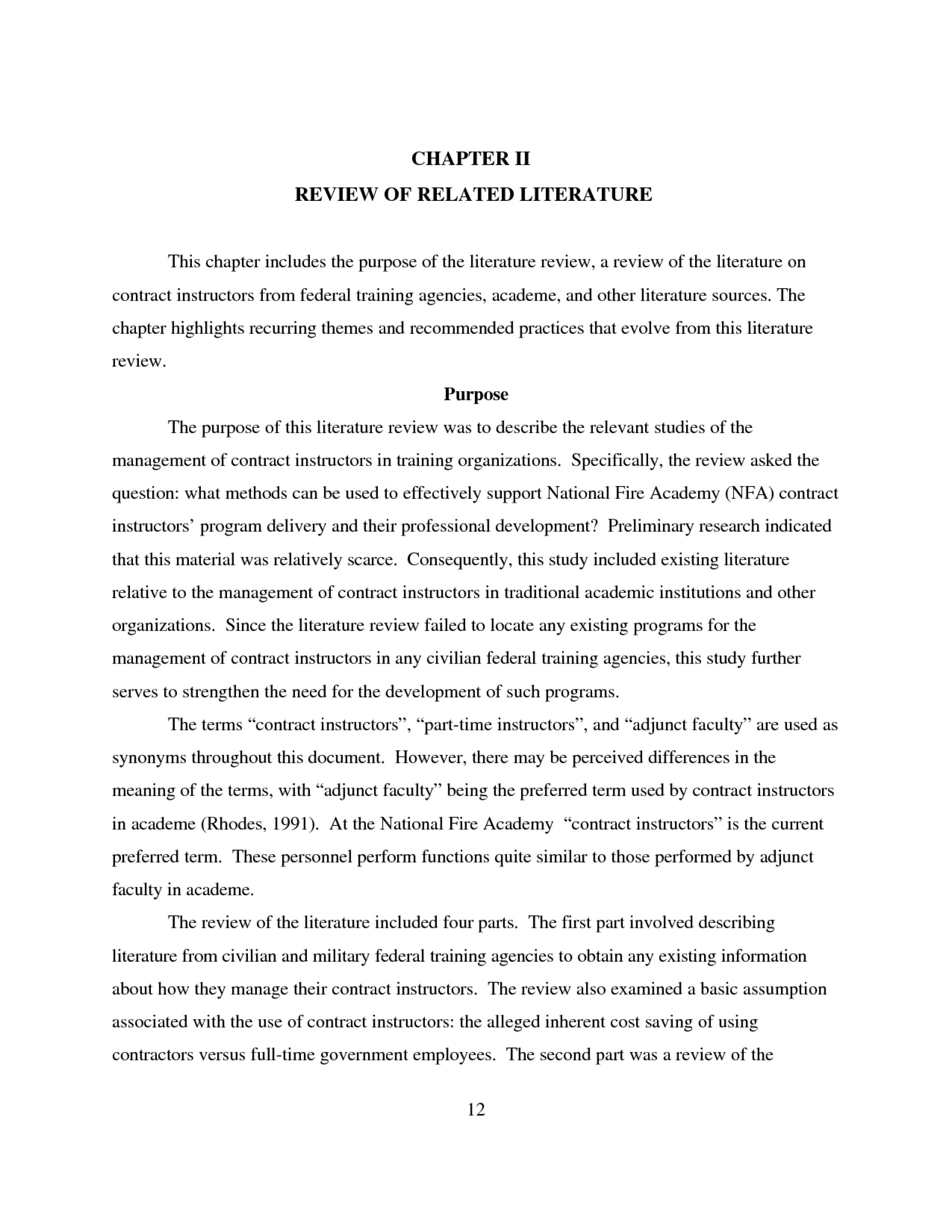 002 Example Research Paper Review Related Literature Imposing Of A 1920