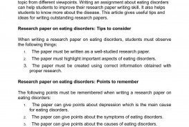 002 Examples Of Researchs On Eating Disorders P1 Frightening Research Papers