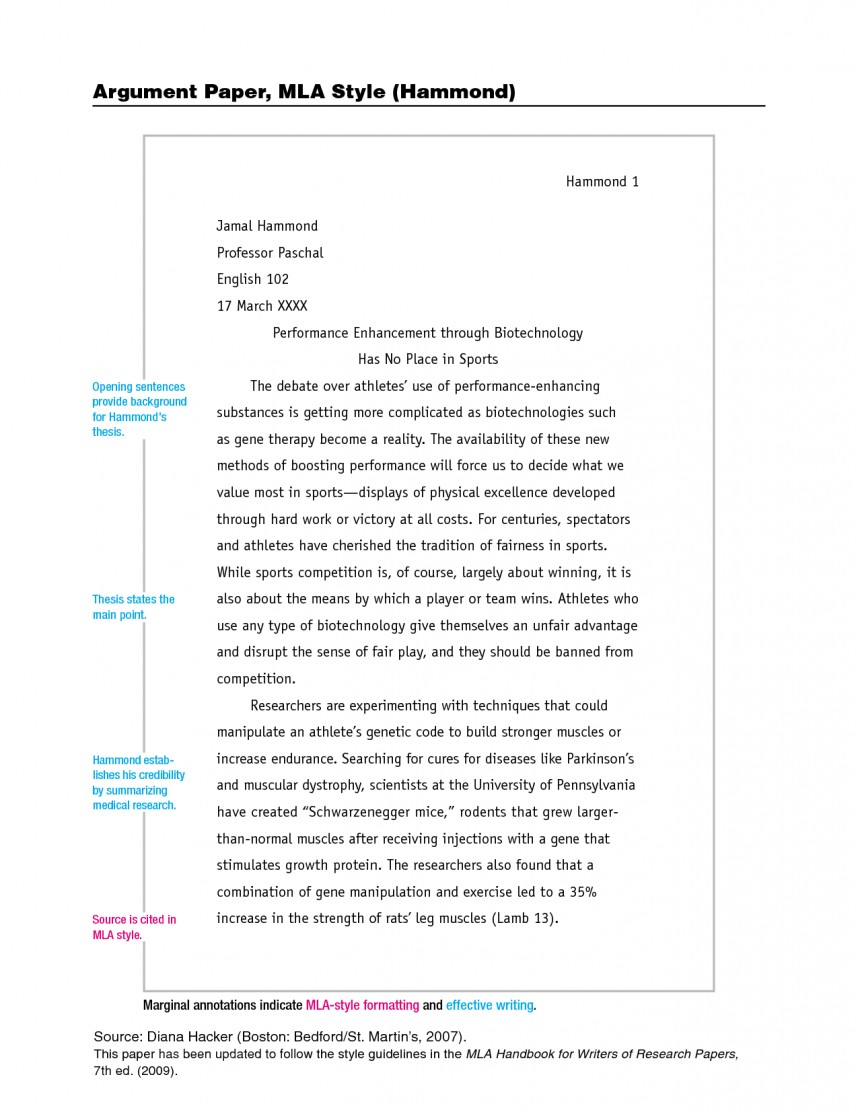 002 Format For Research Paper Mla Style Imposing A Of Example Sample Outline 868
