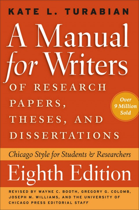 002 Frontcover Manual For Writers Of Researchs Theses And Dissertations Sensational A Research Papers Ed. 8 8th Edition Ninth Pdf 480