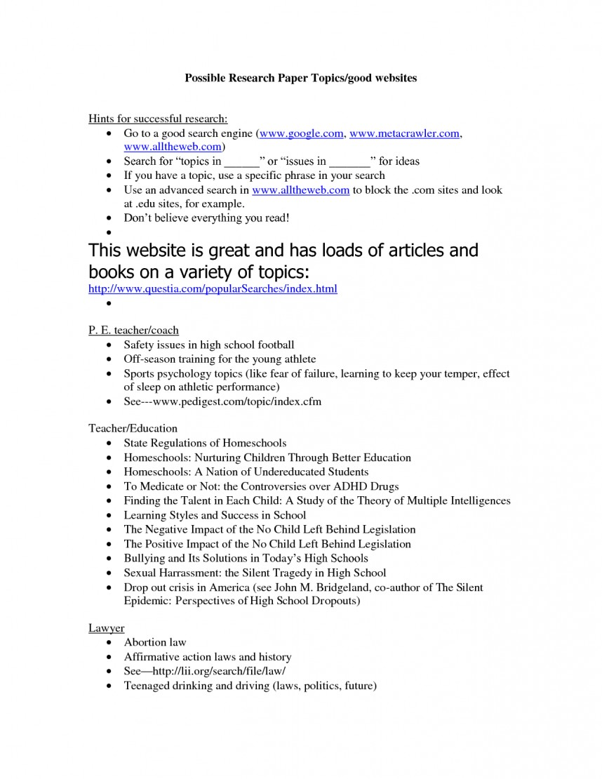 002 Good Researcher Topics Best Solutions Of Interesting Fabulous Forers High School Students Shocking Research Paper On Music For College English Class About 868