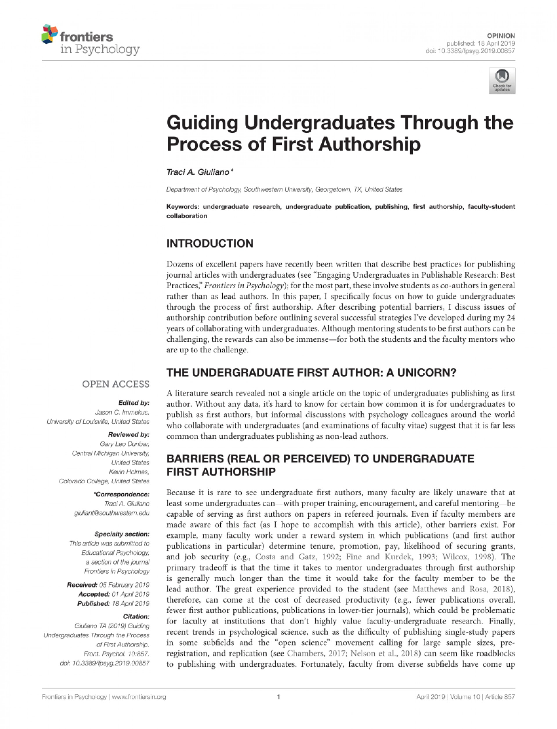 002 How To Publish Research Paper As An Undergraduate Marvelous A In India 1920