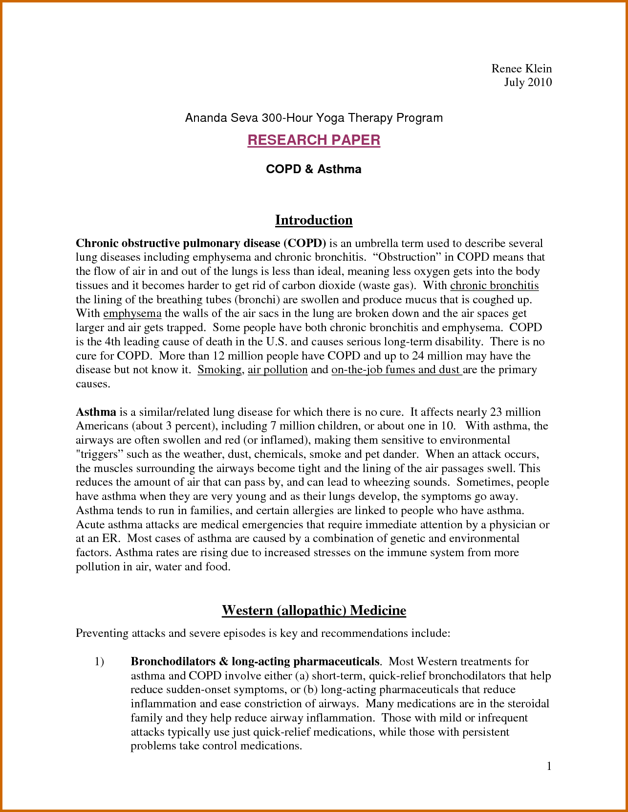 Example Of Introduction In Term Papers