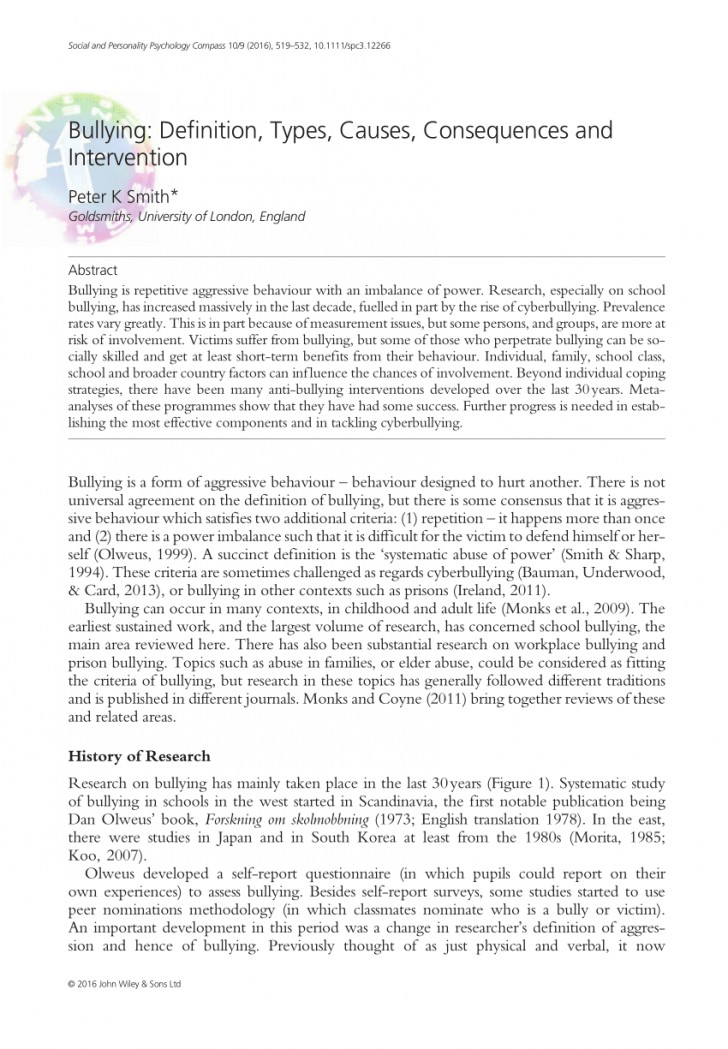 002 Largepreview Bullying Research Paper Imposing Pdf Short About Quantitative Effects Of 728