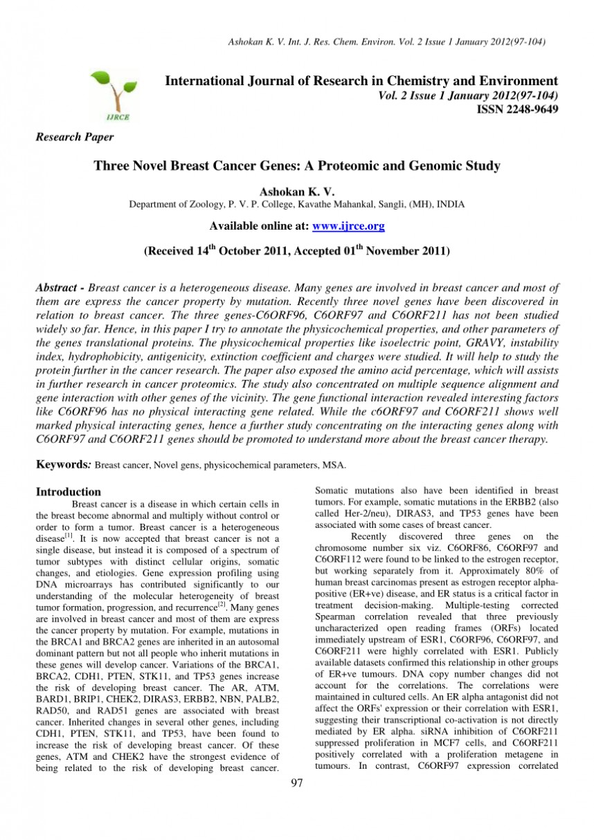 002 Largepreview Research Paper Breast Cancer Gene Dreaded Papers