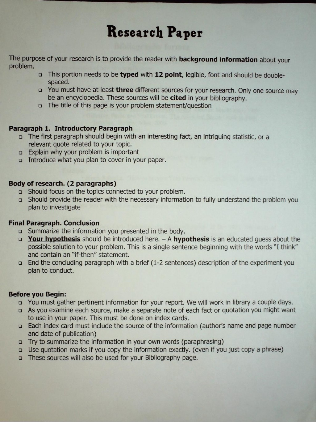 002 Middle School Science Fair Research Paper Template Frightening Large