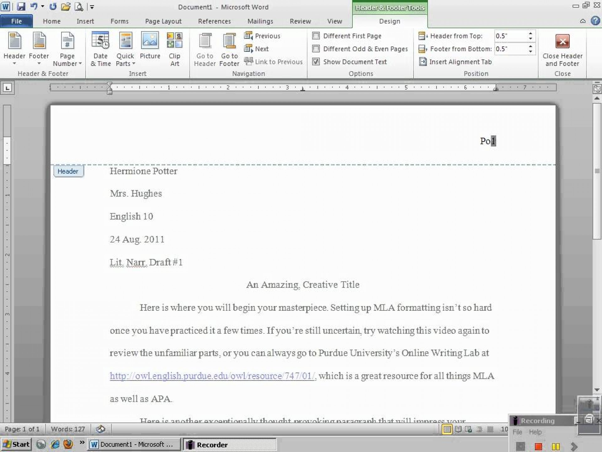 002 Mla Format For Essays And Researchs Using Microsoft Word Stirring Research Papers 2010 1920