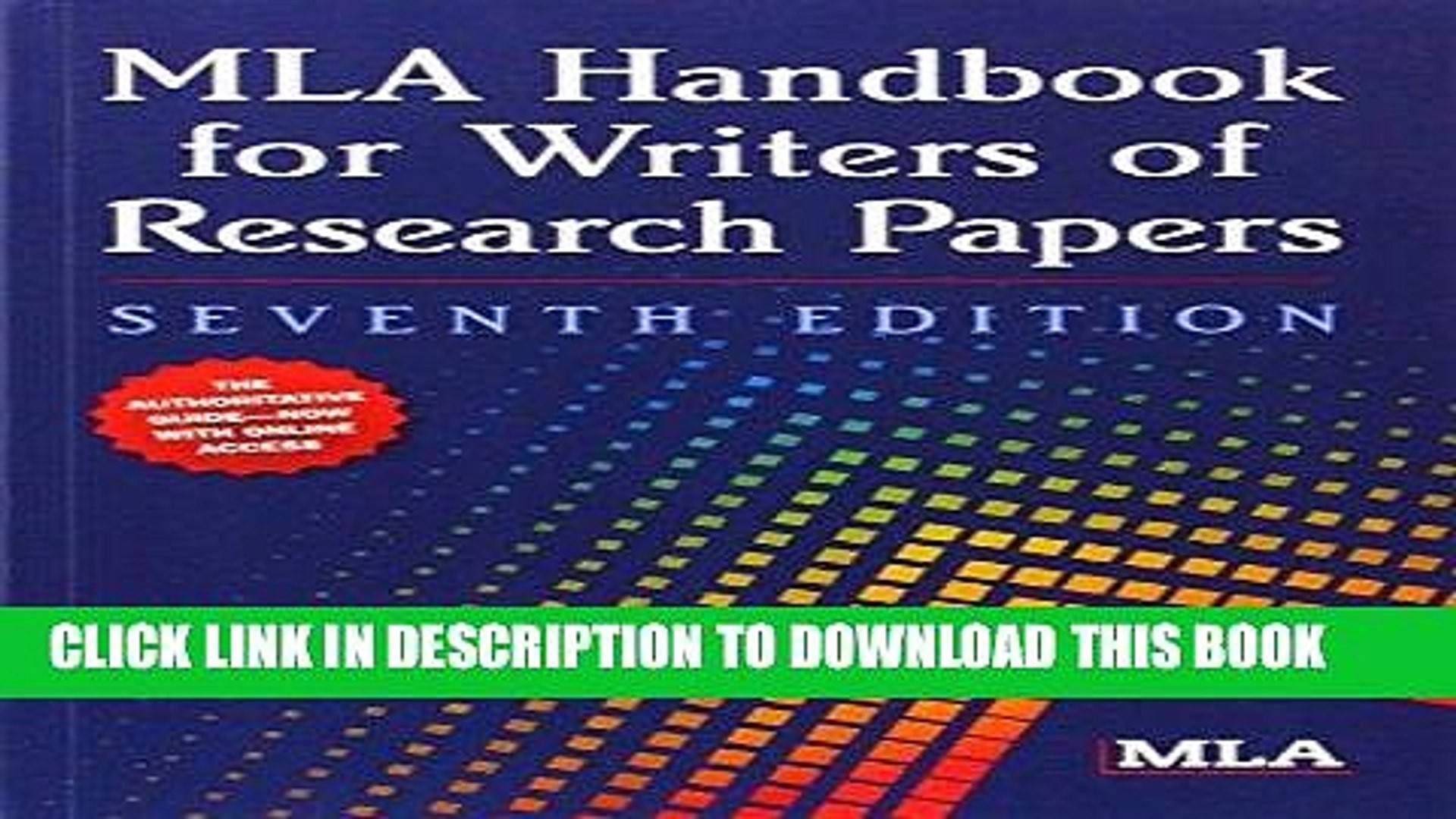 002 Mla Handbook For Writers Of Research Papers 7th Edition Pdf Download Paper X1080 F3  Fearsome Free1920