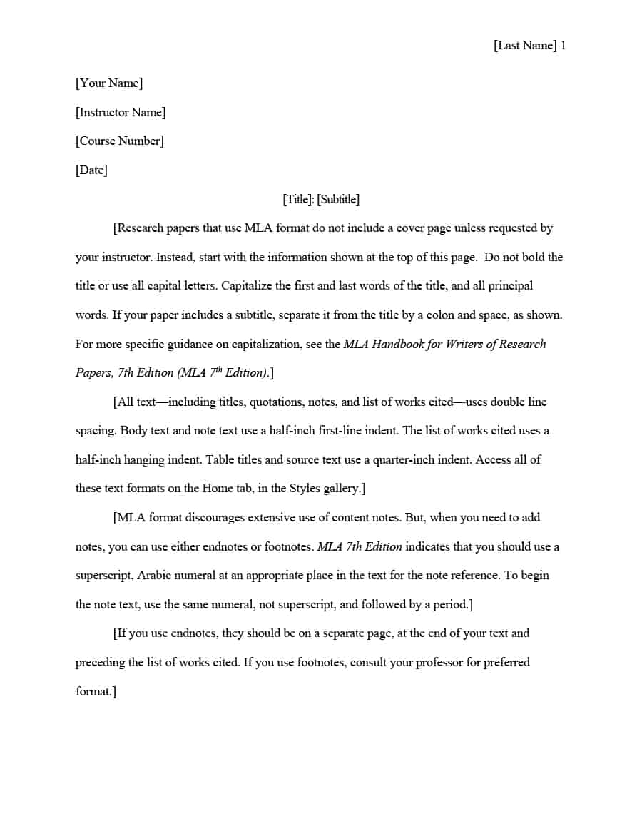 002 Mla Research Paper Template Format Shocking Word Google Docs Full