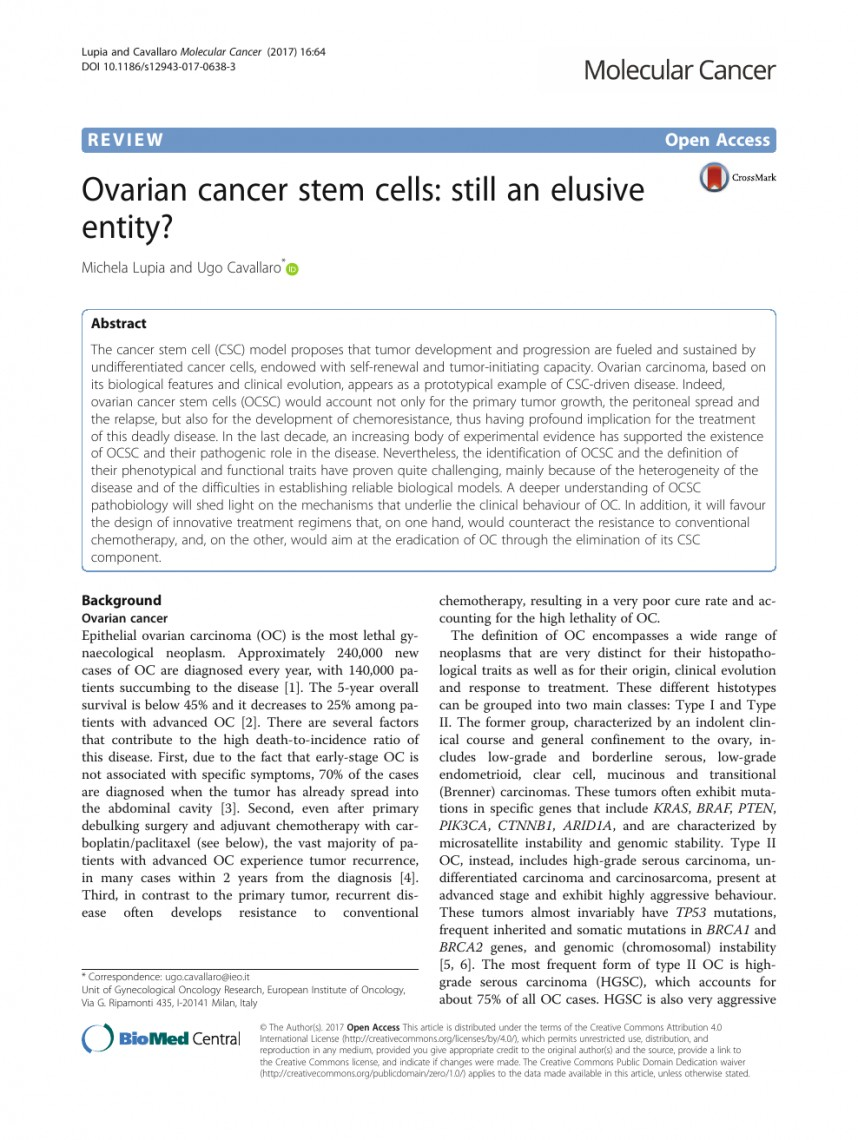 002 Ovarian Cancer Research Papers Paper Archaicawful Topics Free Pdf